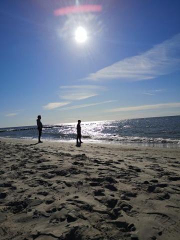 zachód słońca - plaża